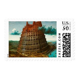 PIETER BRUEGEL - The little tower of Babel 1563 Postage