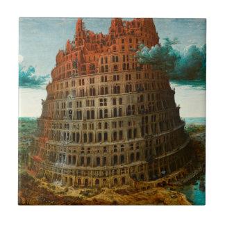 PIETER BRUEGEL - The little tower of Babel 1563 Tile