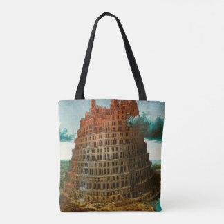 PIETER BRUEGEL - The little tower of Babel 1563 Tote Bag