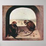 Pieter Bruegel-Two monkeys Print