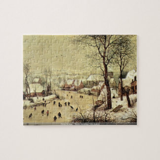 Pieter Bruegel - Winter landscape with skaters Jigsaw Puzzle