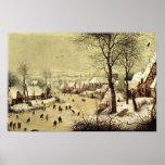 Pieter Bruegel-Winter landscape with skaters Poster