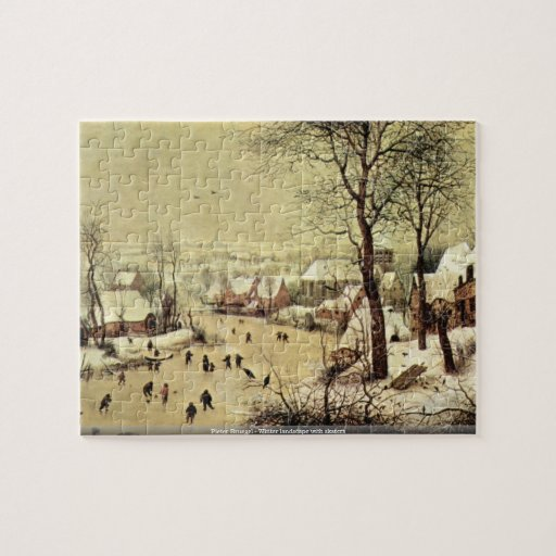 Pieter Bruegel - Winter landscape with skaters Jigsaw Puzzles