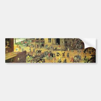 "Pieter Bruegel's ""Children's Games"" - 1560 Bumper Sticker"