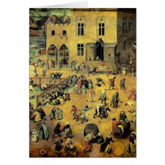 "Pieter Bruegel's ""Children's Games"" - 1560 Greeting Card"
