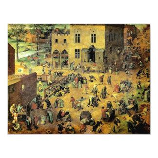 "Pieter Bruegel's ""Children's Games"" - 1560 Custom Invitation"