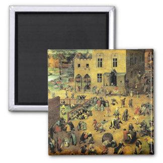 """Pieter Bruegel's """"Children's Games"""" - 1560 Magnet"""