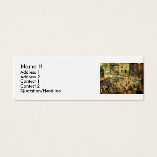 "Pieter Bruegel's ""Children's Games"" - 1560 Mini Business Card"