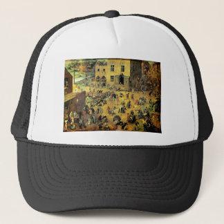 """Pieter Bruegel's """"Children's Games"""" - 1560 Trucker Hat"""