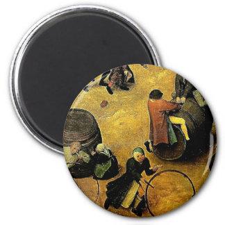 "Pieter Bruegel's ""Children's Games"" (Detail) 1560 Magnet"