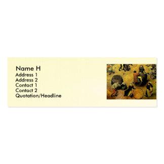 """Pieter Bruegel's """"Children's Games"""" (Detail) 1560 Mini Business Card"""