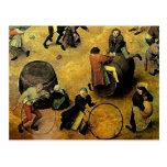 "Pieter Bruegel's ""Children's Games"" (Detail) 1560 Postcard"