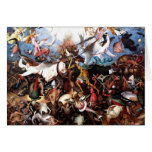"""Pieter Bruegel's """"The Fall Of The Rebel Angels"""" Greeting Card"""