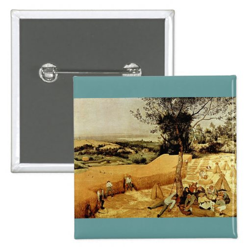 Pieter Bruegel's The Harvesters (1565) 2 Inch Square Button