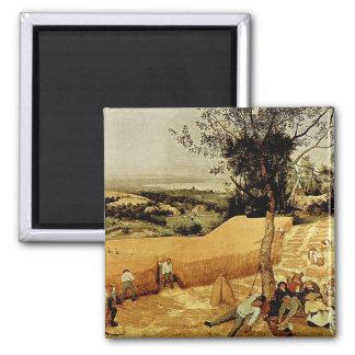 Pieter Bruegel's The Harvesters (1565) Magnet