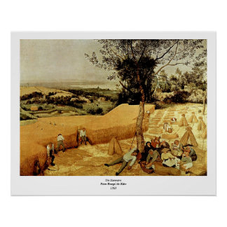 Pieter Bruegel's The Harvesters (1565) Poster