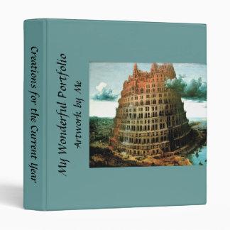 "Pieter Bruegel's The ""Little"" Tower of Babel 3 Ring Binder"