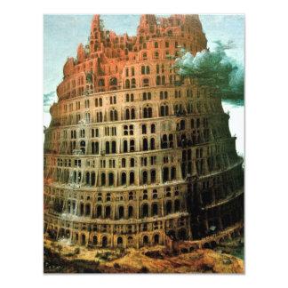 "Pieter Bruegel's The ""Little"" Tower of Babel 4.25x5.5 Paper Invitation Card"