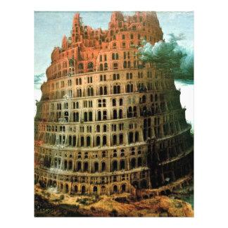 "Pieter Bruegel's The ""Little"" Tower of Babel 8.5"" X 11"" Flyer"