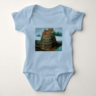 """Pieter Bruegel's The """"Little"""" Tower of Babel Baby Bodysuit"""