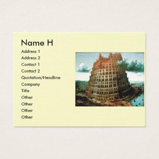 """Pieter Bruegel's The """"Little"""" Tower of Babel Business Card"""