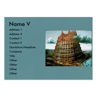 "Pieter Bruegel's The ""Little"" Tower of Babel Large Business Cards (Pack Of 100)"