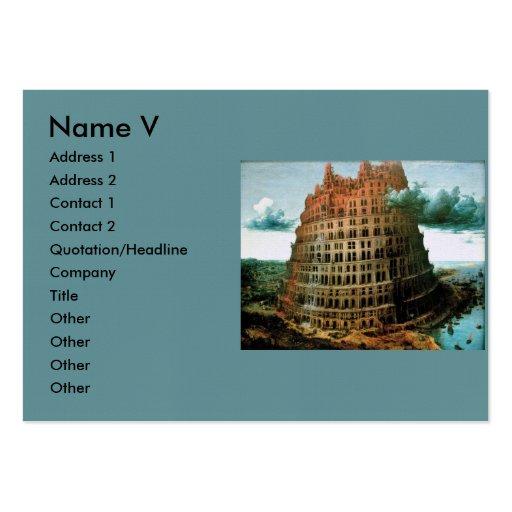 "Pieter Bruegel's The ""Little"" Tower of Babel Business Cards"