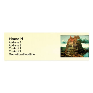 "Pieter Bruegel's The ""Little"" Tower of Babel Double-Sided Mini Business Cards (Pack Of 20)"