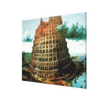 "Pieter Bruegel's The ""Little"" Tower of Babel Stretched Canvas Print"