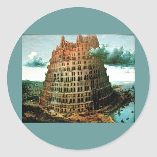 "Pieter Bruegel's The ""Little"" Tower of Babel Classic Round Sticker"