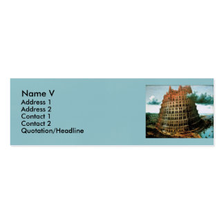 """Pieter Bruegel's The """"Little"""" Tower of Babel Double-Sided Mini Business Cards (Pack Of 20)"""