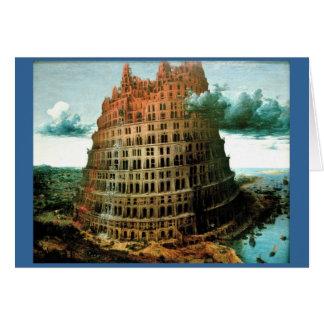 "Pieter Bruegel's The ""Little"" Tower of Babel Greeting Card"