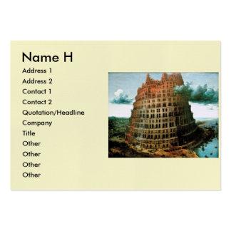 "Pieter Bruegel's The ""Little"" Tower of Babel Large Business Card"