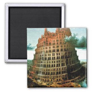 "Pieter Bruegel's The ""Little"" Tower of Babel Magnet"