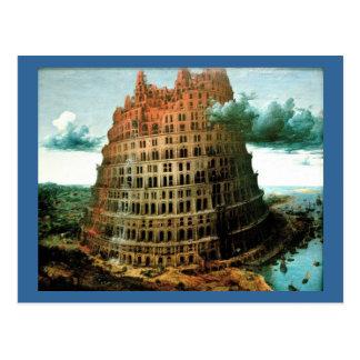 """Pieter Bruegel's The """"Little"""" Tower of Babel Postcard"""
