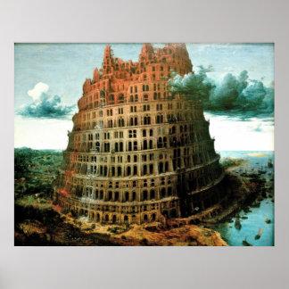 "Pieter Bruegel's The ""Little"" Tower of Babel Poster"