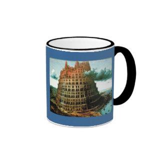 """Pieter Bruegel's The """"Little"""" Tower of Babel Ringer Coffee Mug"""
