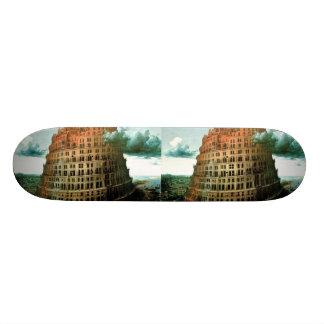 """Pieter Bruegel's The """"Little"""" Tower of Babel Skateboard Deck"""