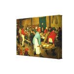 Pieter Bruegel's The Peasant Wedding (1568) Canvas Print