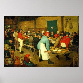 Pieter Bruegel's The Peasant Wedding (1568) Poster