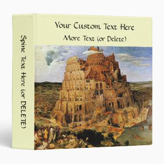 "Pieter Bruegel's ""The Tower of Babel"" (circa 1563) 3 Ring Binder"