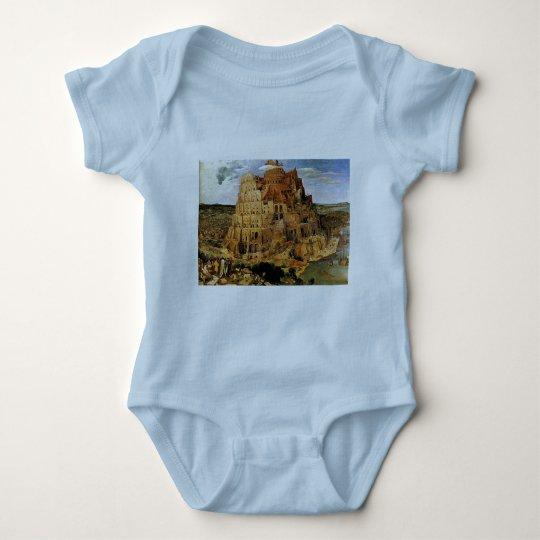 """Pieter Bruegel's """"The Tower of Babel"""" (circa 1563) Baby Bodysuit"""