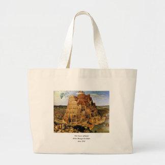 "Pieter Bruegel's ""The Tower of Babel"" (circa 1563) Canvas Bags"