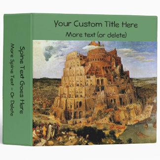 """Pieter Bruegel's """"The Tower of Babel"""" (circa 1563) Binder"""