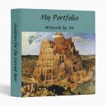 """Pieter Bruegel's """"The Tower of Babel"""" (circa 1563) Vinyl Binders"""