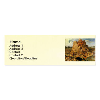 "Pieter Bruegel's ""The Tower of Babel"" (circa 1563) Double-Sided Mini Business Cards (Pack Of 20)"