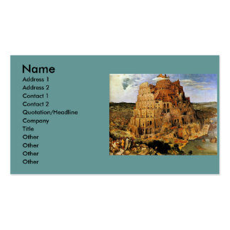 "Pieter Bruegel's ""The Tower of Babel"" (circa 1563) Double-Sided Standard Business Cards (Pack Of 100)"