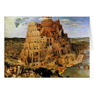 "Pieter Bruegel's ""The Tower of Babel"" (circa 1563) Greeting Card"