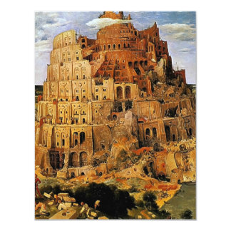 "Pieter Bruegel's ""The Tower of Babel"" (circa 1563) 4.25x5.5 Paper Invitation Card"