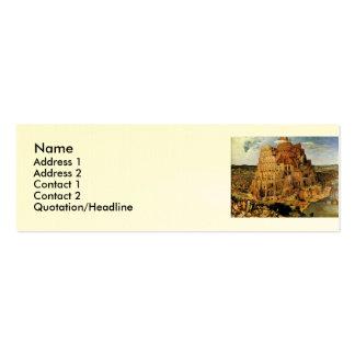"Pieter Bruegel's ""The Tower of Babel"" (circa 1563) Mini Business Card"